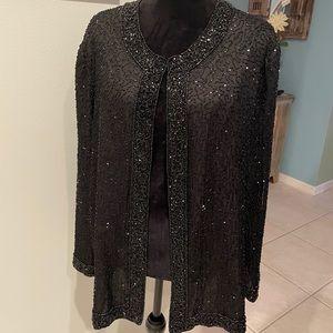 Vintage Lawrence Kazar Beaded Evening Jacket